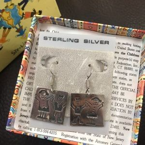 Save the Children Sterling Silver Earrings